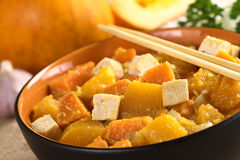 Tofu, Pumpkin And Sweet Potato Curry Stock Photos