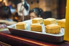Tofu puzzolente in via di Taipei immagini stock