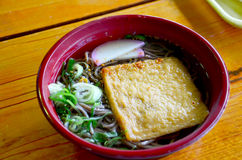 Tofu Ramen or ramen with bean curd japan. And cooking other ramen at Wakayama is  ramen in the Kansai region has a broth made from soy sauce and pork bones Royalty Free Stock Photography