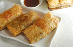 Tofu roll dim sum. Fried Tofu roll dim sum Royalty Free Stock Images