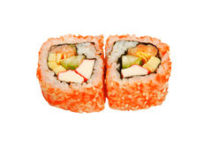 Tofu rolls salmon caviar Royalty Free Stock Photos