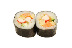 Tofu rolls salmon crab Royalty Free Stock Photo