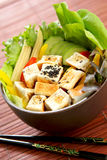Tofu salad  [ Healthy food ] Stock Images