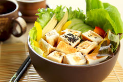 Tofu salad  [ Healthy food ] Royalty Free Stock Photos