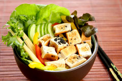 Tofu salad  [ Healthy food ] Royalty Free Stock Images