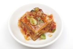 Tofu and sauce Stock Photos