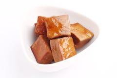 Tofu secco stufato Fotografia Stock