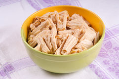 Tofu skin. Is a Chinese food product made from soybeans Royalty Free Stock Photos