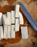 A Tofu slice. Stock Image