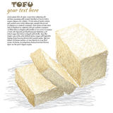Tofu sliced Stock Photo