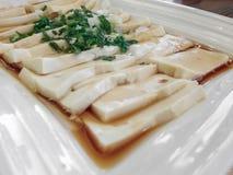 Tofu slices Stock Images
