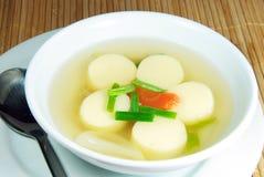 Tofu soup. Tofu soup, the vegetarian dish Stock Image