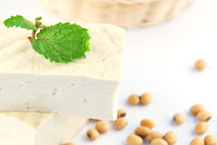 Tofu and soy beans Stock Image