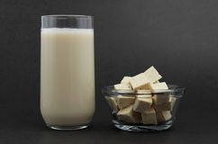 Tofu and soy beverage Royalty Free Stock Image