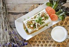 Tofu Steak, fusion food Stock Photography