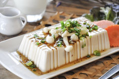 Tofu Steak, fusion food Royalty Free Stock Image