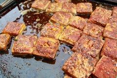 Tofu Stinky ou tofu smelly imagens de stock