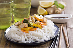 Tofu stir fry with vegetables Stock Photos