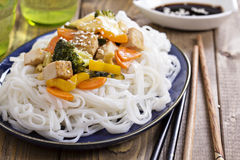 Tofu stir fry with vegetables Stock Photography