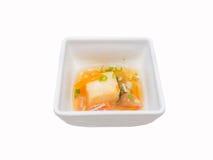 Tofu with sweet sauce-Japanese food Stock Photos