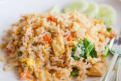 Tofu und gebratener Gemüsereis, siamesisches Menü Lizenzfreie Stockfotos