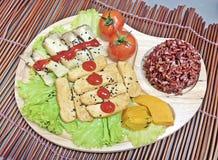Tofu- und Pilzsteak Lizenzfreies Stockfoto