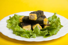 Tofu végétarien de poissons Photos libres de droits