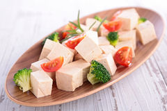 Tofu and vegetable Royalty Free Stock Photography
