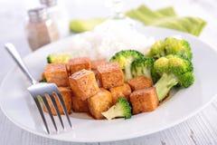 Tofu and vegetable Stock Photo