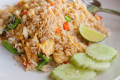 Tofu and vegetable fried rice,Thai menu Royalty Free Stock Image