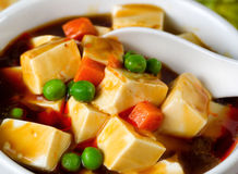Tofu with vegetable soup dish ready to eat Stock Photo