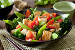 Tofu Vegetable Stir Fry Royalty Free Stock Images