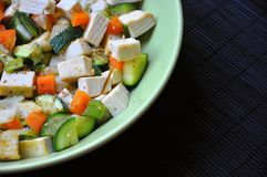 Tofu and vegetables Stock Photo
