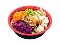 Tofu vegetarian poke bowl Royalty Free Stock Photos