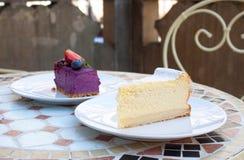 Tofu weganinu cheesecakes fotografia stock