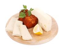 Tofu on a wooden table. Stock Image