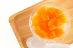 Tofufruktsallad Arkivbilder