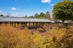 Tofuku-ji. Covered pathway over the trees in Tofuku-ji temple, Kyoto, Japan Royalty Free Stock Image