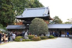Tofukuji Temple : KYOTO - 25 Nov 2017: Crowds gather at Tofukuj royalty free stock photo