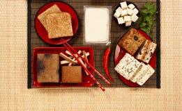 Tofuprodukter Arkivbild
