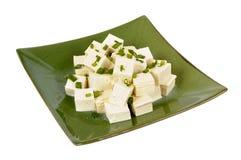 Tofuwürfel mit Frühlingszwiebel Lizenzfreie Stockfotos