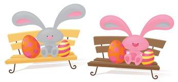 Tog av planen kaniner royaltyfri illustrationer