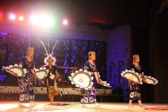 Togather indigène de danse de guerrier et de dame Images libres de droits