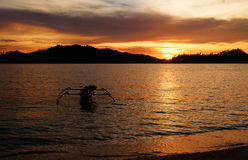 Togean Islands at sunset. Indonesia. Royalty Free Stock Images