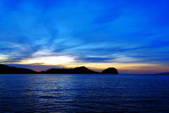 Togean Islands at sunset. Indonesia. Royalty Free Stock Photography