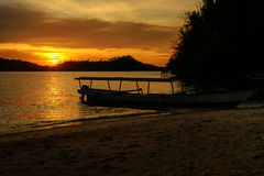 Togean Islands at sunset. Indonesia. Royalty Free Stock Photos
