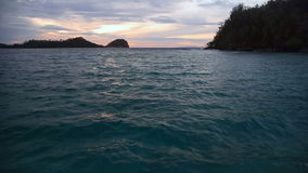Togean Islands at sunset. Indonesia. stock video footage