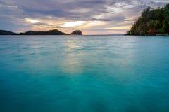 Togean wyspy przy zmierzchem Indonezja Zdjęcia Stock