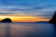 Togean wyspy przy zmierzchem Indonezja Fotografia Stock