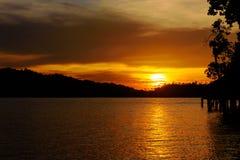 Togean wyspy przy zmierzchem Indonezja Fotografia Royalty Free
